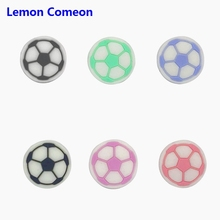 22*22mm Silicone Beads Football Baby Teether DIY Childens Goods Teething Toy For Necklaces Bracelet BPA Free 3PC