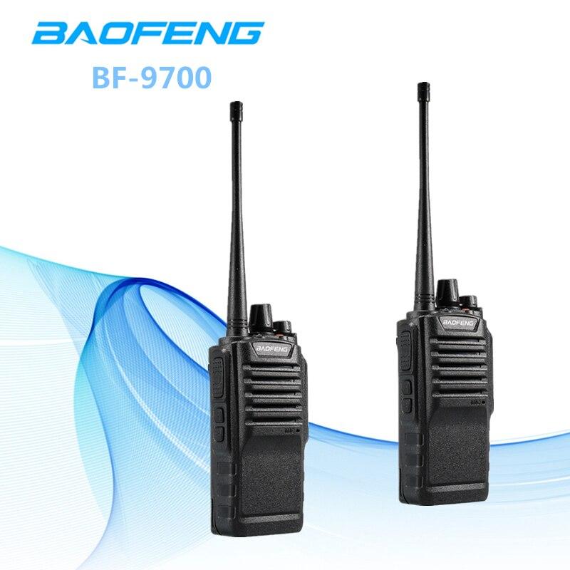 2 pcs IP67 Étanche Baofeng BF-9700 Sans Écouteur 2800 mah 8 w Portable CB Radio Bidirectionnelle Radio UHF400-520MHz FM émetteur-récepteur