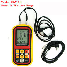 GM130 Ultrasonic Thickness Gauge 1.0~300mm (Steel) Sound Velocity Meter 1000~9999m/s Metal Depth Tester without Retail box