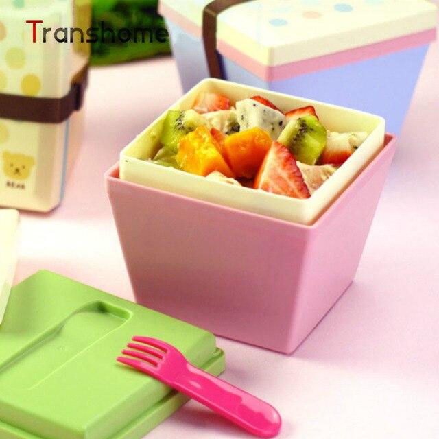 TRANSHOME belle Boîte de Repas En Plastique Bento Box pour Doux ...