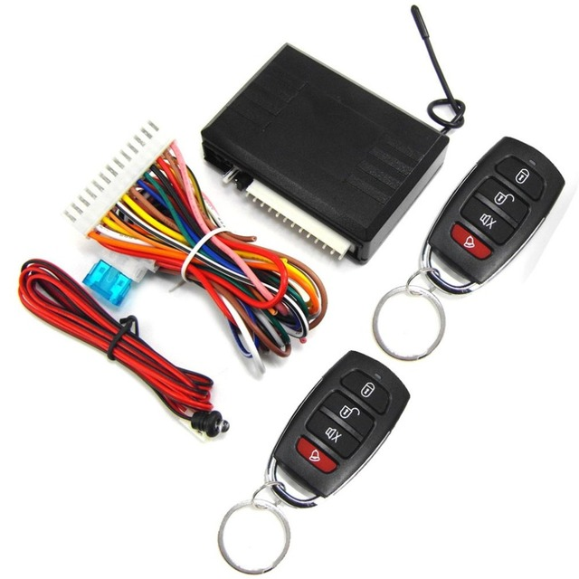 Vehicle Keyless Entry System Universal 12V Car Remote Central Kit Anti-theft Door Lock With Remote Controllers
