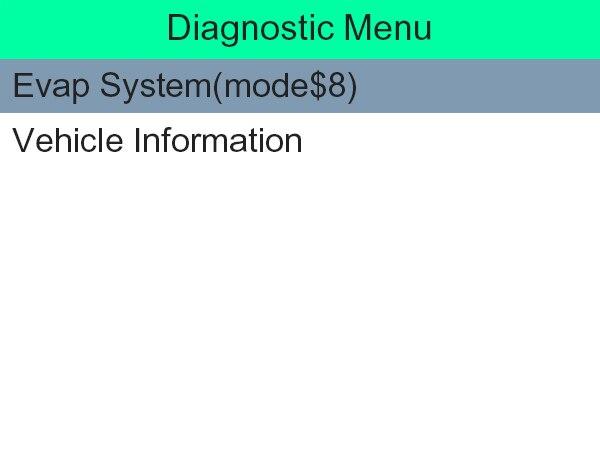 Diagnostic Menu 2