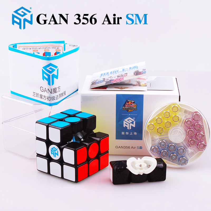 GAN 356 Air SM 3x3x3 magnetic puzzle magic cube professional master gans speed cube magico gan354 M magnets neo cube gan 356 RGAN 356 Air SM 3x3x3 magnetic puzzle magic cube professional master gans speed cube magico gan354 M magnets neo cube gan 356 R