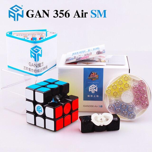 Фото gan 356 air sm x 3x3x3 магнитный пазл магический куб gans профессиональный