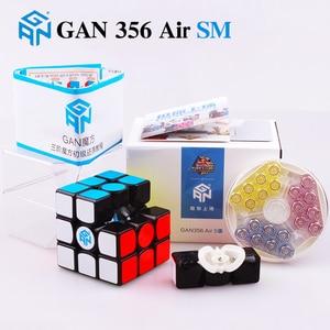 Image 2 - GAN 356 Air SM X 3x3x3 puzzle magnétique cube magique professionnel gan356 x cube magico gan354 M aimants cube gan 356 R S
