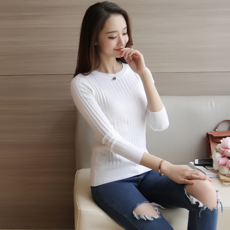 Women turtleneck sweater 2017 Casual spring women bottoming slim warm knitted pullovers female burderry women
