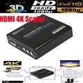 Hdmi para hdmi 4 k amplificador hdmi scaler para baixo/upscaler com zoom + aux de áudio 3d 1080 p para ps4 ps3 hdtv blue-dvd