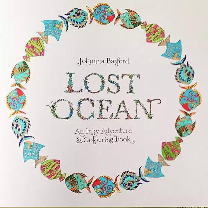 New Arrival Secret Garden Lost Ocean Adult Child An Inky Adventure And Coloring Book 1PC Best Christmas Gift Free 12 Pencil In Books From Office School