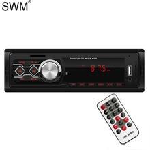 SWM Car Radio For Car Autoestereo Radio Pantalla 12V Bluetooth Multimedia Mp3 Player Fm Tf Aux Eq Sound Effect Car Stereo Radio