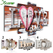 YOGOTOP DIY Diamond Painting Cross Stitch Kits Full Diamond Embroidery 5D Diamond Mosaic Home Decor Love Home5pcs ML254 yogotop diy diamond painting cross stitch kits full diamond embroidery 5d diamond mosaic decor colorful butterfly 5pcs ml307
