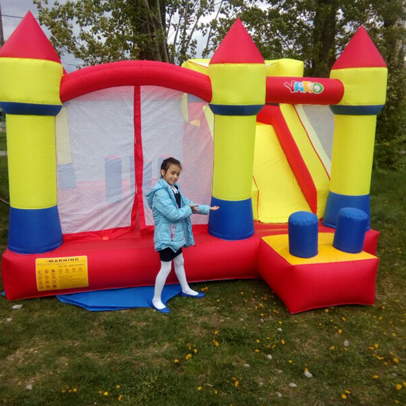 YARD Inflatable Trampline Bouncy Castle Jumping House With Smooth Slides Inflatable Games Inflatable Bouncer Castle for children yard inflatable games castle bouncer house jumping slides free pe balls inflatabletrampolines oxford pvc kids children bouncer