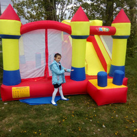 YARD Inflatable Trampline Bouncy Castle Bounce House Slide Smoothly Inflatable Toys Inflatable Bouncer Castle for children