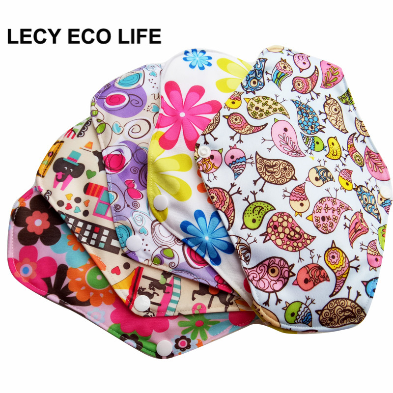 Free shipping 5pcs lady reusable cloth pads with bamboo cotton inner, cloth day night pads menstrual pad sanitary pads wholesale [mumsbest] 10pcs bamboo cotton washable cloth maternity pads menstrual reusable sanitary pads napkin waterproof panty liners