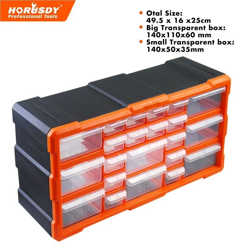 New 22 Drawers Storage Cabinet Tool Box Chest Case Plastic Organiser Toolbox Bin new wall mounted storage bin rack tool parts garage unit shelving organiser box