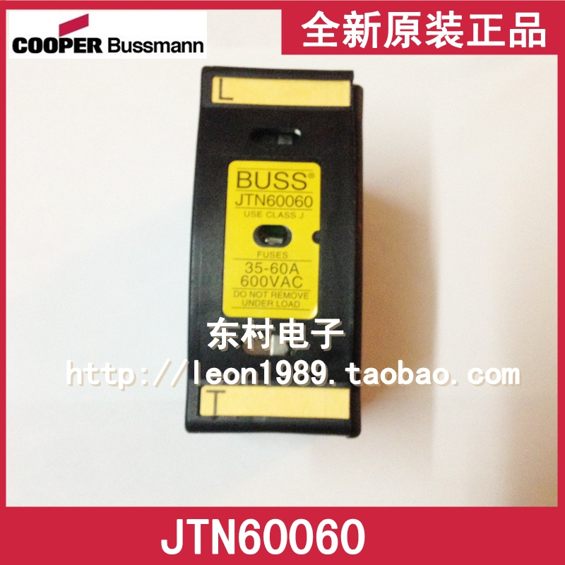 [SA]United States BUSSMANN fuse JTN 60060 35A ~ 60A 600V JT60060 fuse holder us bussmann fuse holder jtn60060 35a 60a 600v 600vac fuse holder