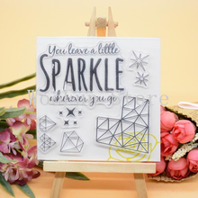 CS1124 Scrapbook DIY Photo Album Cards Transparent Acrylic Silicone Rubber Clear Stamps Sheet  10x10cm Sparkle