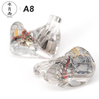 MoonDrop A8 Knowles 8 BA Unit Driver (Single-sided) HiFi AUDIO In-Ear Earphone Public Template IEM with Detachable Cable 1