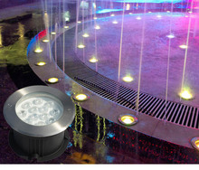RGB LED Waterproof Underground Lamp 12V Swimming Pool Pond Underwater Light with Remote Controller