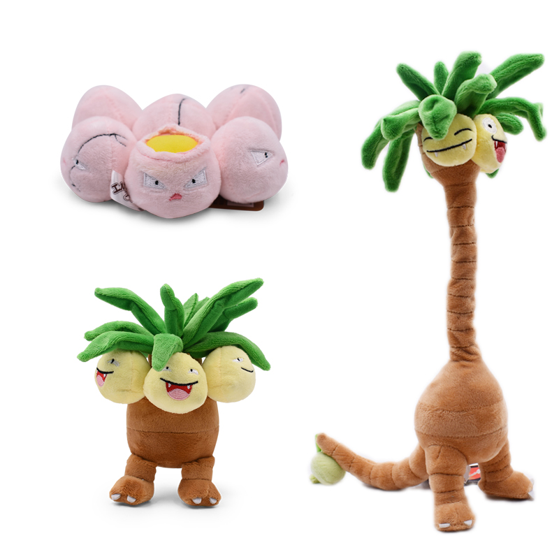 3 Styles Anime Exeggcute Alola Exeggutor Plush Doll With Skeleton Movable Soft Stuffed Dolls Hot Toy Great Gift For Children