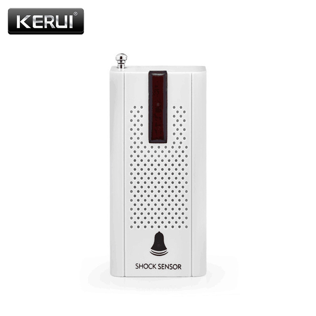 KERUI Wireless Door Window Vibration Detector Shock sensor External Antenna For GSM PSTN SMS Home Security Voice Burglar Alarm
