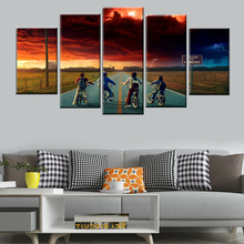 5 piece wall art sunrise bike kids landscape art wall poster canvas painting Nordic poster print home decoration picture selflessly wall impressionism monet wild poppy field sunrise landscape canvas painting art print poster picture painting