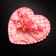 3D Rose silicone molds for soap making DIY Wedding Decoration Girlfriend Gift flower heart Mold