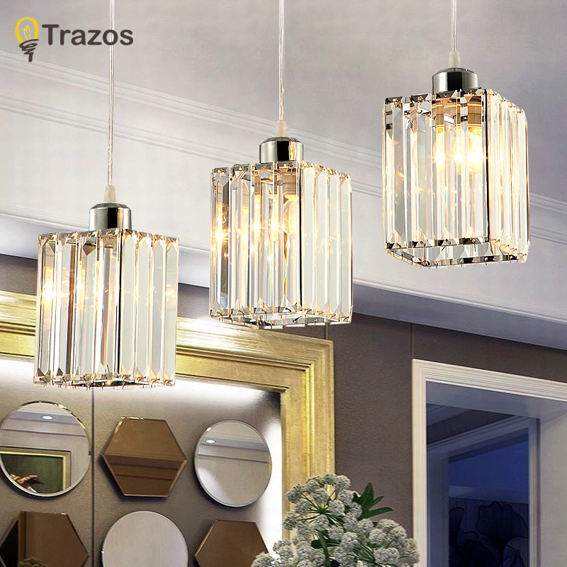 Modern Led Pendant Lamps Living Room crystal Stainless Restaurant Bedroom Decorative Pendant Lights Lamparas Home Lighting Lampe 2016 new luminaire lamparas pendant lights modern fashion crystal lamp restaurant brief decorative lighting pendant lamps 8869