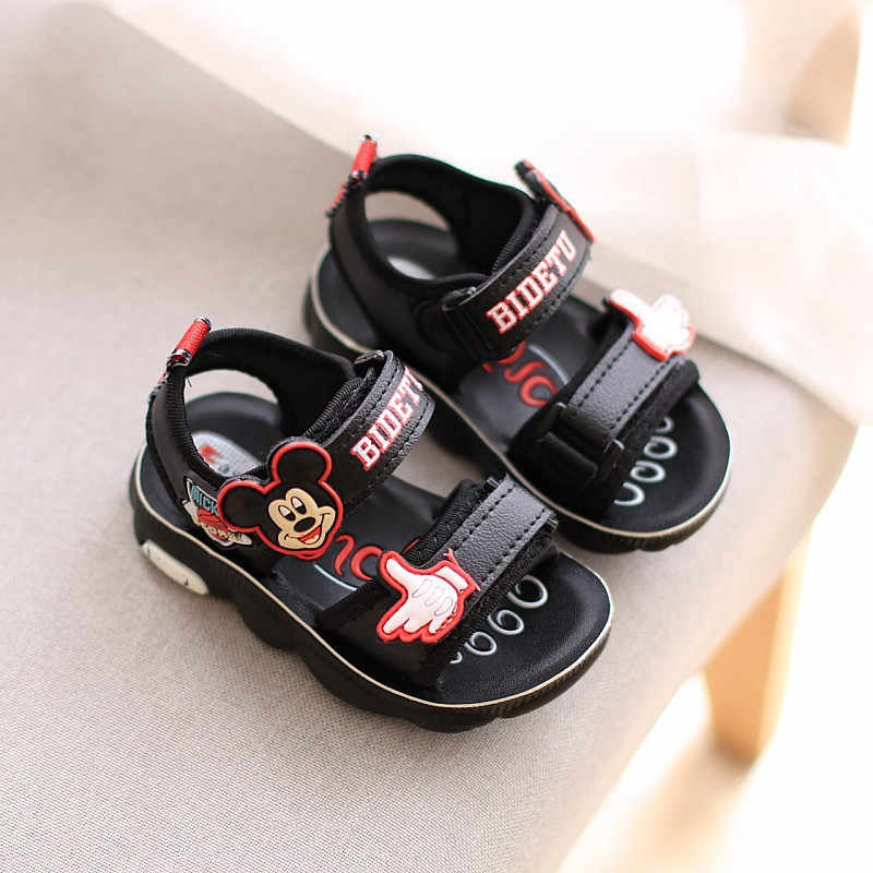 Disney children's baby non-slip soft bottom Mickey casual shoes preliminary toddler shoes toddler sandals beach shoes