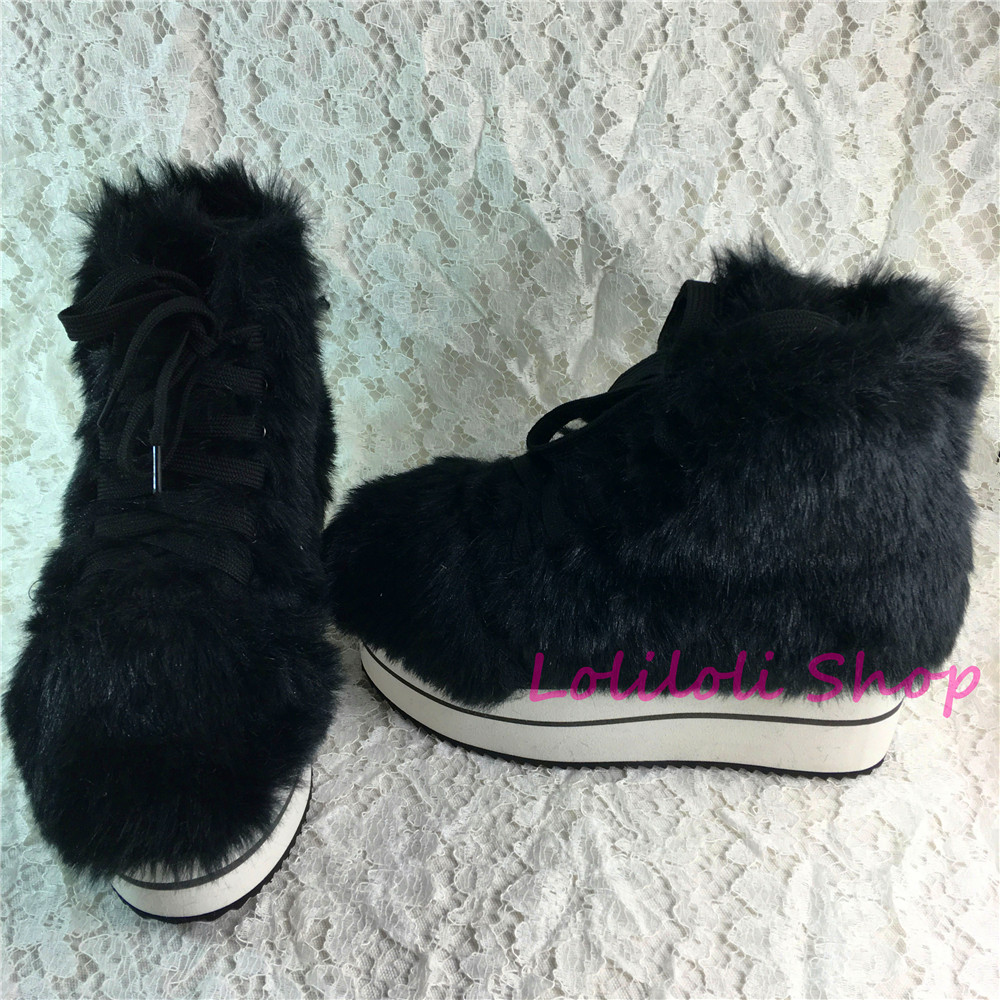 Princesse doux gothique lolita chaussures Lolilloliyoyo antaina japonais design chaussure personnalisé fond épais noir daim chaussures plates yd001-1