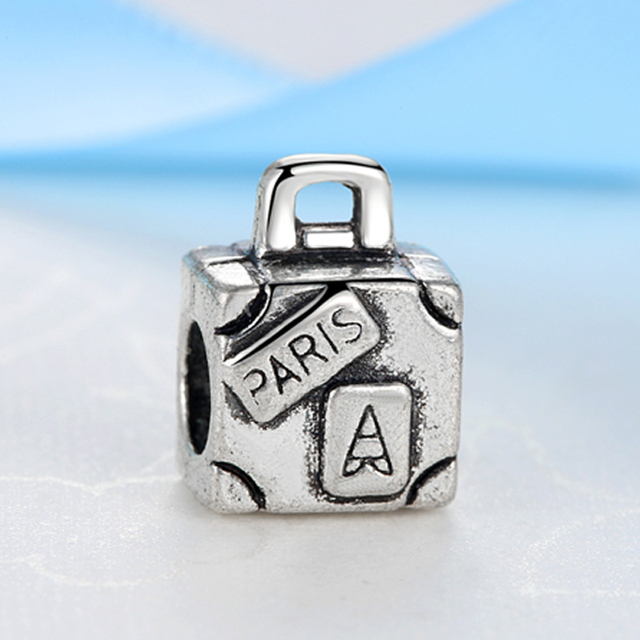 New Silver Plated Bead Charm Love To Travel Eiffel Tower Camera Pendant Charms Fit Pandora Bracelets Women DIY Fashion Jewelry