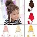 5 Cores Crianças inverno quente chapéus crochet chapéus do bebê recém-nascido fotografia acessórios da criança meninos meninas do bebê tampas de capô enfant venda