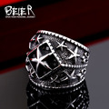 Beier new store 316L Stainless Steel ring new Design pentacle ring fashion Jewelry  BR8-357