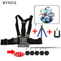 Gopro Acessórios Harness Ajustável Corpo Chest Strap Belt Tripé de Montagem para gopro hero 5 4 3 + 2 1 sjcam xiaomi yi CameraVP203