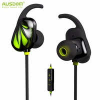 AUSDOM SP007 Bluetooth Earphone V4.1 Bluetooth Airpods Wireless Sport Running Headset With Mic for iPhone Xiaomi Samsung MP3