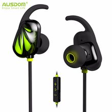AUSDOM SP007 Bluetooth Earphone V4.1 Bluetooth Airpods Wireless Sport Running Headset With Mic for iPhone Xiaomi Samsung MP3(China)
