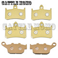 For Honda CB400 SF (F2V/F3T) Super 4 (NC31) 1996 1997 Motorcycle Front & Rear brake pads Motorbike Brake Pads New Style