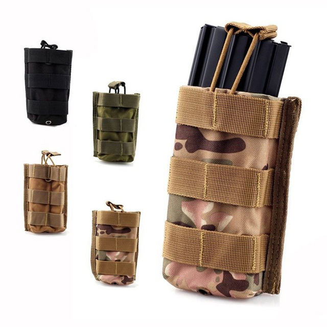Molle Tactical Single Rifle Mag Pouch Open Top Bag for M4 M16 5.56 .223 Magazine Pouch Hunting Accessories