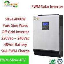 5Kva Solar Inverter 4000W Pure Sine Wave Inverter 48Vdc 230Vac Build in 50A PWM Solar Charger Controller & AC charger
