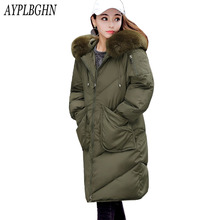 high quality winter jacket coat warm Long women parka Artificial false fur collar women Winter coat slim Female jacket Plus size