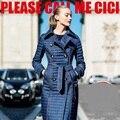 Chaqueta de mezclilla Abajo de la capa 2015 de Invierno de Las Mujeres chaquetas y abrigos de 90% plumón de pato de mezclilla doble botonadura trinchera prendas de vestir exteriores delgada