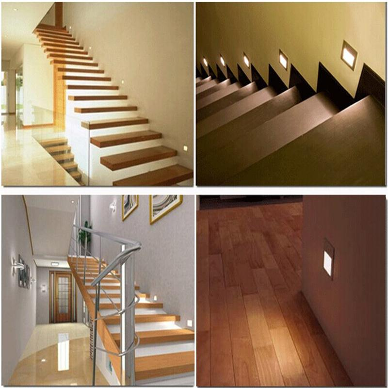 Superbe Sound Sensor LED Stair Lights Foot Lighting 1W Wall Lamp Sound Night Light  AC85 265V White Warm White Indoor Wall Sconce Lights In LED Night Lights  From ...