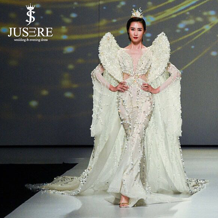 40ec18116f1e0 US $9500.0  Snow queen bling bling sheer scoop neckline heavy beaded with  pearls and sequins Watteau train red carpet evening dress-in Evening  Dresses ...