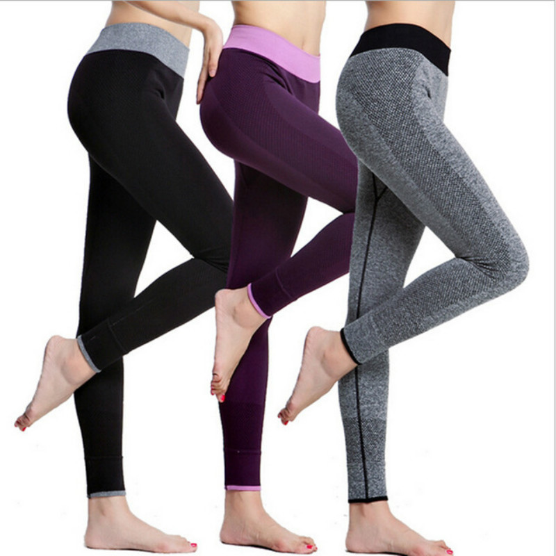 New Style 2017 Spring-Autumn Womens Sport Leggings Fashion Patchwork High Waist Elastic Gym Fitness Work Out Running Leggings