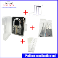 Clear Practice Lock Set With Nanomete Insert Sheet 5pcs Door Lock Opener With 5 Pcs Tension