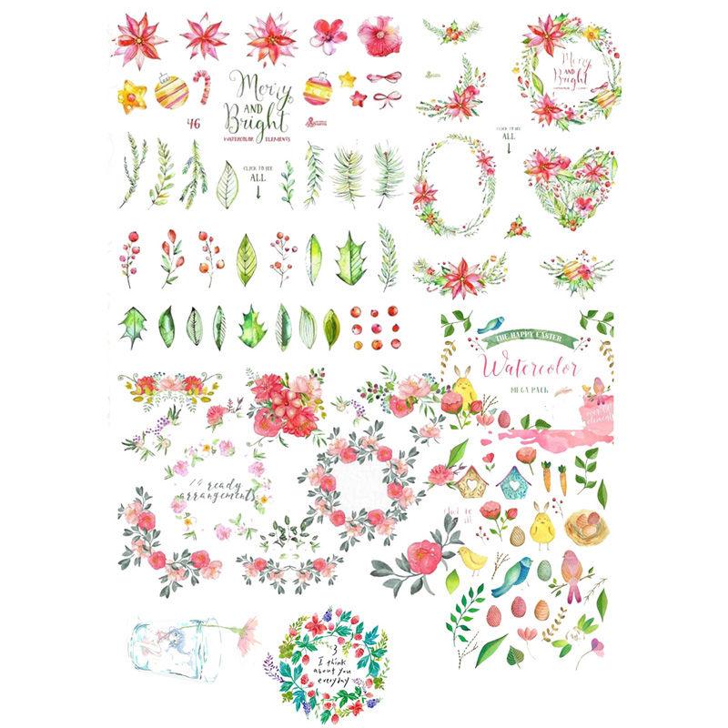 20 pcs//lot Colorful flowers paper stickers package DIYs diary decoration stic HI
