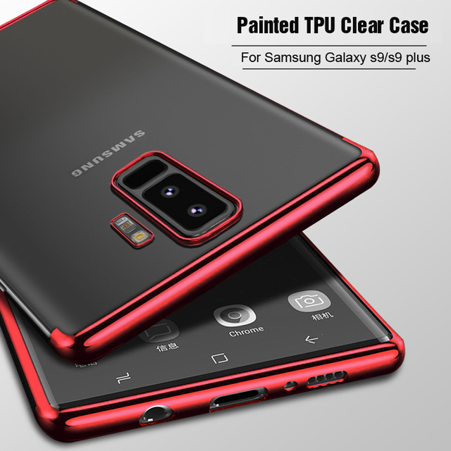 detailing ed22f a7e3a US $1.99 30% OFF|For Samsung Galaxy S9 / S9 Plus case, Vpower Painted frame  Crystal Clear tpu soft Phone case for samsung s9 s9+ cover-in Fitted Cases  ...