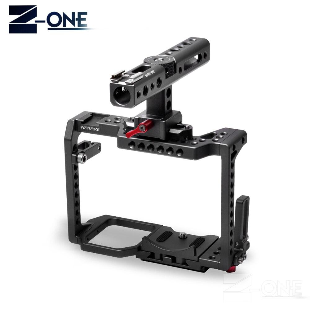 WARAXE GH5 Kit Gabbia Fotocamera, per Panasonic GH5 GH4 con la NATO Ferroviario Maniglia Grip e 1/4