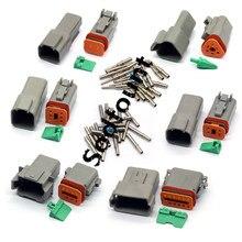 b39a182c3ccda6 Sodfount 10 set Deutsch DT 2 3 4 6 8 12 Pin Wire Connector plug Kit 22-16AWG