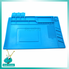 Mulit Functions 45cm X 30cm Watch Repair Mat High temperature Non Slip Watch Repair Pad With screwdriver Holder Watch Parts box