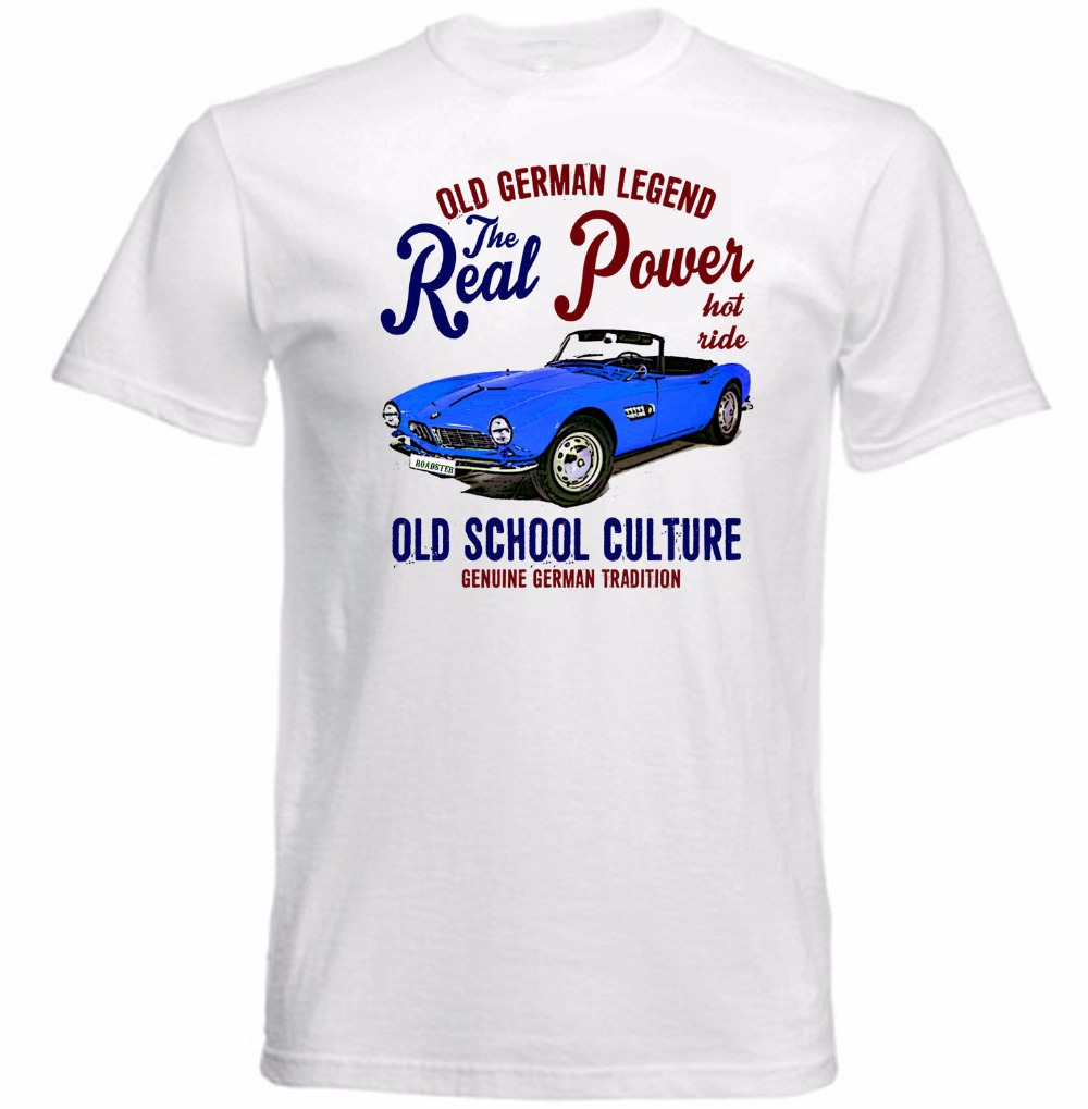 high quality 2017 summer new hip hop brand new clothing tops vintage german car 507 roadster
